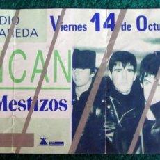 Biglietti di Concerti: ENTRADA CONCIERTO DUNCAN DHU ZARAGOZA + LOS MESTIZOS LA ROMAREDA FIESTAS DEL PILAR 1988. Lote 207424561