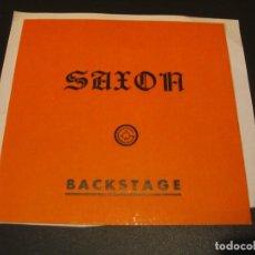 Entradas de Conciertos: SAXON BACKSTAGE GIRA TOUR ESPAÑA 1985 ENGANCHADA. Lote 207487798