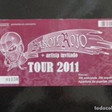 Entradas de Conciertos: BARON ROJO : TICKET BARCELONA 2011. Lote 207864822