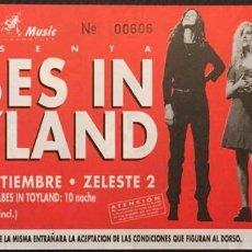 Billets de concerts: BABES IN TOYLAND ENTRADA SIN USAR 1994. Lote 208202235