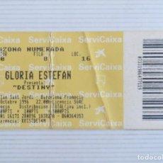 Entradas de Conciertos: GLORIA ESTEFAN : TICKET ORIGINAL!!!!!! (BARCELONA 1996). Lote 208492033
