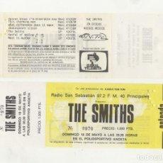 Billets de concerts: THE SMITHS SAN SEBASTIÁN 1985 ENTRADA DEL CONCIERTO SIN CORTAR Y CON LA CHARNELA. Lote 210278907