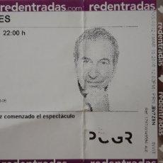 Entradas de Conciertos: ENTRADA CONCIERTO JOSÉ LUIS PERALES EN GRANADA. Lote 210447600