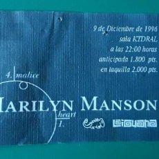 Bilhetes de Concertos: ENTRADA MARILYN MANSON MADRID 1996. Lote 210452083