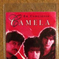 Entradas de Conciertos: CAMELA. PASE DE BACKSTAGE CONCIERTO EN PABELLÓN DE LA CASILLA (BILBAO), EN 1995.. Lote 210798382