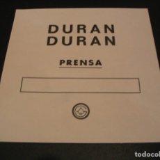 Entradas de Conciertos: DURAN DURAN BACKSTAGE PRENSA GIRA TOUR ESPAÑA 1987. Lote 211671664