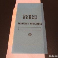 Entradas de Conciertos: DURAN DURAN BACKSTAGE SERVICIOS AUXILIARES GIRA TOUR ESPAÑA 1987. Lote 211671795