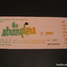 Bilhetes de Concertos: THE STRANGLERS ENTRADA INVITACIÓN GIRA TOUR BADALONA 1978 COMPLETA. Lote 211673555
