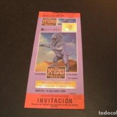 Billets de concerts: ENTRADA TICKET INVITACIÓN THE ROLLING STONES + LOS SUAVES 1999 COMPOSTELA COMPLETA. Lote 213162996