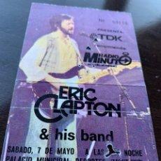 Entradas de Conciertos: ENTRADA ORIGINAL DEL CONCIERTO DE ERIC CLAPTON AND HIS BAND 7 DE MAYO DE 1983 BARCELONA MONTJUIC. Lote 213755593
