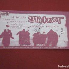 Entradas de Conciertos: SLIPKNOT - ENTRADA DE CONCIERTO NUEVA - LA RIVIERA. Lote 213791836