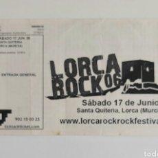 Bilhetes de Concertos: ENTRADA CONCIERTO LORCA ROCK - 17-06-06. Lote 213962390
