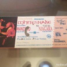 Entradas de Conciertos: WHITESNAKE + MANZANO ENTRADA 10 AGOSTO 1990 DEEP PURPLE. Lote 214353653