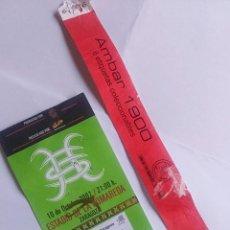 Entradas de Conciertos: ENTRADA HEROES DEL SILENCIO + PULSERA VIP ZARAGOZA TOUR 2007 CERVEZA AMBAR 1900. Lote 215197815