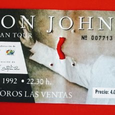 Entradas de Conciertos: ELTON JOHN, ENTRADA 1992 EUROPEAN TOUR.MADRID. ENVIO INCLUIDO.. Lote 215318316
