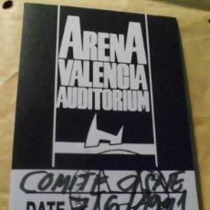 Entradas de Conciertos: COMITE CISNE BACKSTAGE PASE ENTRADA ORIGINAL CONCIERTO ARENA AUDITORIUM VALENCIA 1991. Lote 215705961