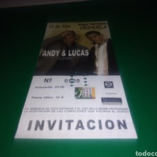 Entradas de Conciertos: ENTRADA ANTIGUA DE UN CONCIERTO MUSICAL DE ANDY Y LUCAS. GIRA HOLA VERANO! ORIHUELA. NÚMERO: 500. Lote 216356057