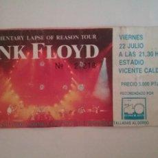 Billets de concerts: ENTRADA CONCIERTO PINK FLOYD. Lote 216921161