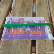Biglietti di Concerti: ENTRADA DE CONCIERTO, LOQUILLO Y LOS TROGLODITAS. Lote 217791028