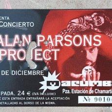 Biglietti di Concerti: ENTRADA CONCIERTO ALAN PARSON PROYECT. Lote 217823447