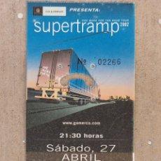 Biglietti di Concerti: ENTRADA CONCIERTO SUPERTRAMP - 27-4-2002. Lote 217824048