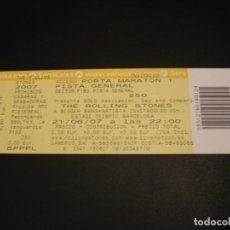 Billets de concerts: THE ROLLING STONES ENTRADA INVITACIÓN COMPLETA BARCELONA 2007 GIRA TOUR TICKET. Lote 217921616