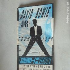 Billets de concerts: DAVID BOWIE SOUND VISION TOUR 1990 ENTRADA ORIGINAL CONCIERTO BARCELONA MONTJUIC. Lote 218001505