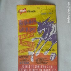 Billets de concerts: ROLLING STONES URBAN JUNGLE ENTRADA ORIGINAL CONCIERTO BARCELONA MONTJUIC 1990. Lote 218001581