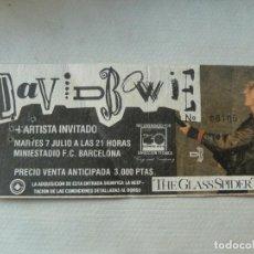 Billets de concerts: DAVID BOWIE GLASS SPIDER TOUR ENTRADA ORIGINAL CONCIERTO BARCELONA MINIESTADI. Lote 218002187