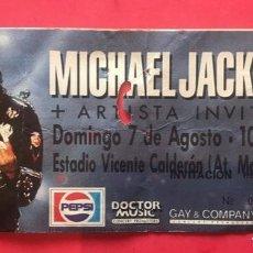 Biglietti di Concerti: J8 MICHAEL JACKSON PEPSI ESTADIO VICENTE CALDERÓN MADRID 7 8. Lote 218238211