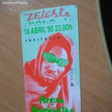 Biglietti di Concerti: AFRIKA BAMBAATAA-CONCIERTO ZELESTE BARCELONA-SIN USAR. Lote 218285021