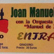 Entradas de Conciertos: JOAN MANUEL SERRAT ORQUESTA SINFÓNICA MANUEL DE FALLA EL BOSQUE 2004 CONCIERTO ENTRADA. Lote 218747893