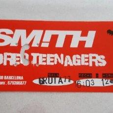 Biglietti di Concerti: ENTRADAS DE CONCIERTO DE TVSMITH & THE BORED TEENAGERS. Lote 218778475
