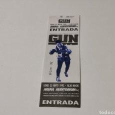 Biglietti di Concerti: ENTRADA CONCIERTO GUN EN VALENCIA 25 MAYO 1992. Lote 218930590