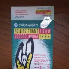 Billets de concerts: THE ROLLING STONES: ENTRADA ANTIGUA 1995 -BCNA.VOODOO LOUNGE- COMPLETA -OPORTUNIDAD COLECCIONISTAS. Lote 219175711