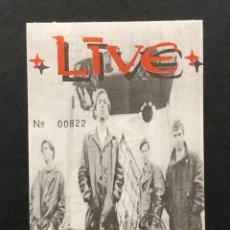 Billets de concerts: +LIVE+ ENTRADA SIN CORTAR 1992. Lote 219583892