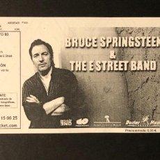 Entradas de Conciertos: BRUCE SPRINGSTEEN ENTRADA SIN CORTAR, MADRID 2003. Lote 219695190