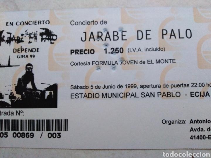 Entradas de Conciertos: Entrada concierto jarabe de palo ( sábado 5 de junio de 1999 ) - Foto 3 - 220534292