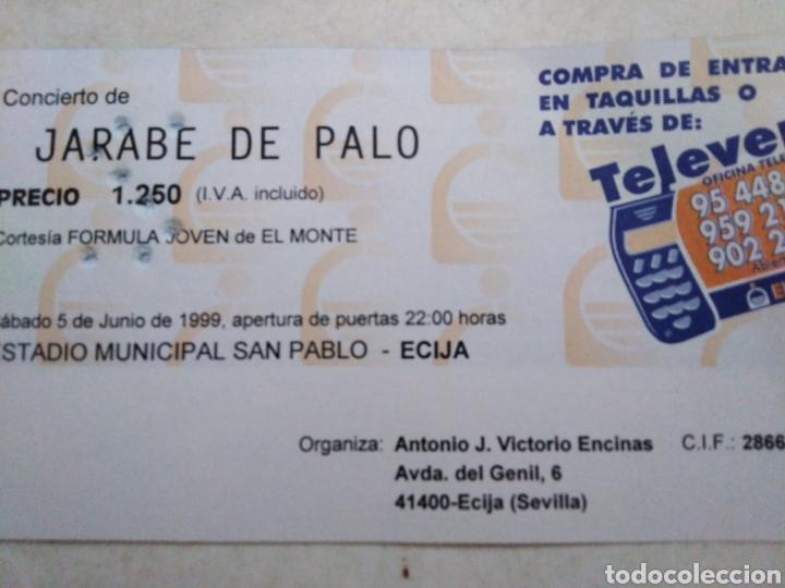 Entradas de Conciertos: Entrada concierto jarabe de palo ( sábado 5 de junio de 1999 ) - Foto 4 - 220534292
