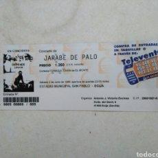 Entradas de Conciertos: ENTRADA CONCIERTO JARABE DE PALO ( SÁBADO 5 DE JUNIO DE 1999 ). Lote 220534292