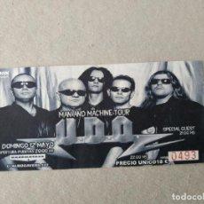 Entradas de Conciertos: ENTRADA CONCIERTO U.D.D. MAN AND MACHINE TOUR. BARCELONA. LA DE LA FOTO. Lote 220854268