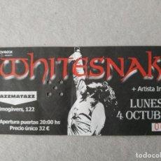 Entradas de Conciertos: ENTRADA CONCIERTO WHITESNAKE, BARCELONA . LA DE LA FOTO. Lote 220855616
