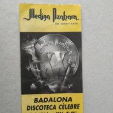 Entradas de Conciertos: ENTRADA CONCIERTO MEDINA AZAHARA. BARCELONA, 2001 . LA DE LA FOTO. Lote 220856056