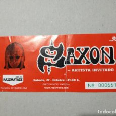 Billets de concerts: ENTRADA CONCIERTO SAXON. SALA 2 RAZZMATAZZ. BARCELONA. LA DE LA FOTO.. Lote 220967350
