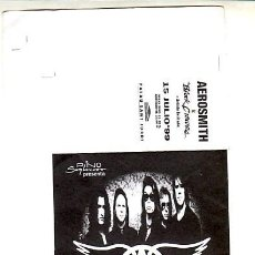Billets de concerts: AEROSMITH: ENTRADA DE CONCIERTO SIN USAR- DE IMPRENTA 1999-BARCELONA - UNICA PIEZA!!!-WOW!!. Lote 220980011