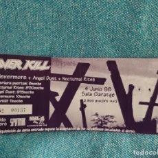 Biglietti di Concerti: ENTRADA CONCIERTO OVER KILL+NEVERMORE+OTROS. SALA GARATGE. LA DE LA FOTO. Lote 221130548