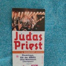 Entradas de Conciertos: ENTRADA CONCIERTO. JUDAS PRIEST+GOREFEST. ZARAGOZA. LA DE LA FOTO. Lote 221264445