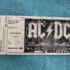 Entradas de Conciertos: ENTRADA CONCIERTO. AC/DC. BLACK ICE TOUR.PALAU SANT JORDI, 2009. BARCELONA. LA DE LA FOTO. Lote 221266815