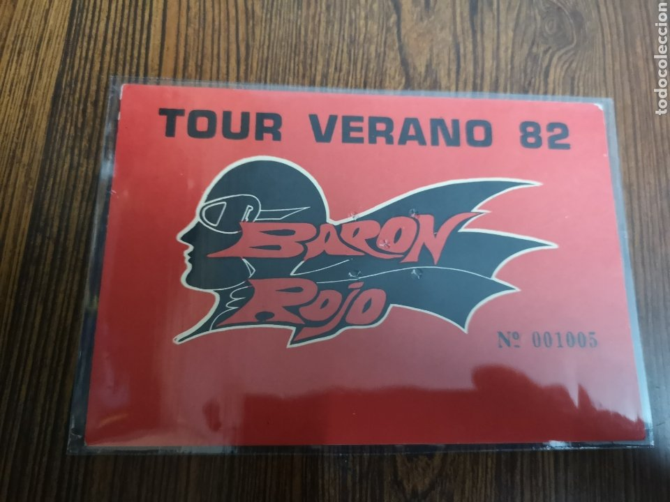 C124. ENTRADA DE CONCIERTO. TOUR VERANO 82. BARON ROJO (Música - Entradas)
