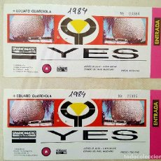 Entradas de Conciertos: ENTRADA ORIGINAL DEL CONCIERTO DE YES + EDUARD GUARDIOLA ESTADIO RAYO VALLECANO MADRID 26 JULIO 1984. Lote 221775976
